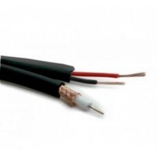 BNC Coaxial cable RG59 CU + 2 × 0.50mm CU - BLACK