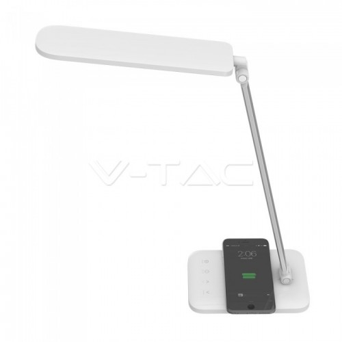 16W LED Table Lamp Wireless Charger 3 in 1 White