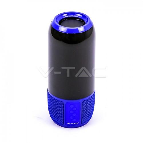 2*3W LED Table Lamp Speaker USB & TF Card Slot Blue