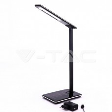 5W LED Table Lamp 3in1 Wireless Charger Square Black Body