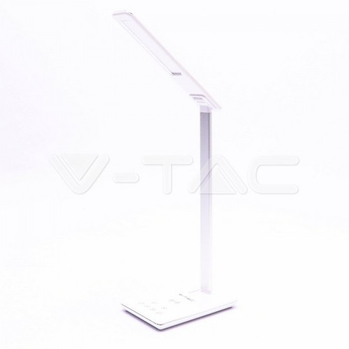 5W LED Table Lamp 3in1 Wireless Charger Square White Body