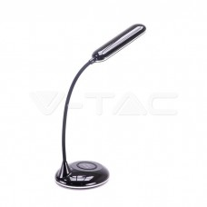5W LED Table Lamp 3in1 Wireless Charger Round Black Body