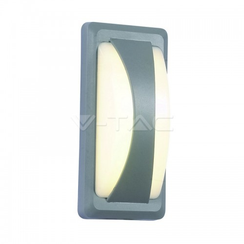 12W LED Bulkhead Softlight Natural White Grey Body IP65