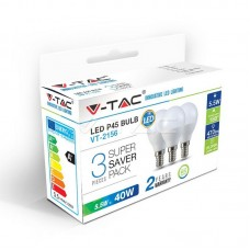 LED Bulb - 5.5W E14 P45 2700K 3PCS/PACK