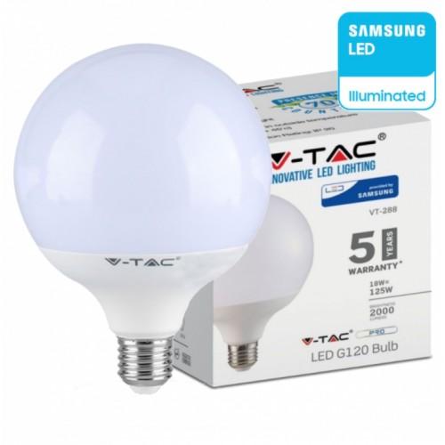 LED Bulb - SAMSUNG CHIP 18W E27 G120 Plastic 2000LM 4000K
