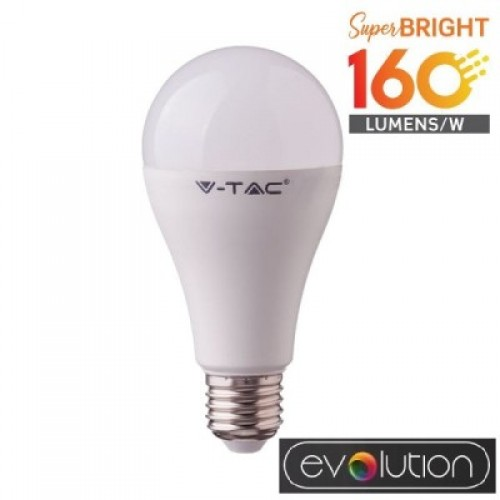 LED Bulb - 15W E27 A60 Plastic 3000K 160LM/W EVOLUTION