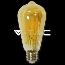 LED Bulb - 4W E27 Filament Amber Cover ST64 2200K