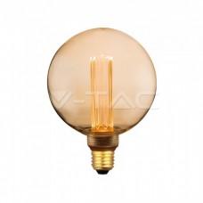 LED Bulb - 4W ART Filament Candle E27 G125 Amber Glass 1800K±200K