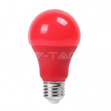 LED Bulb - 9W E27 Red Color Plastic