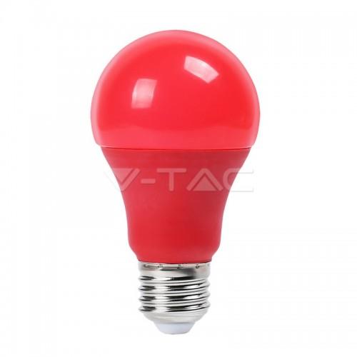 LED Bulb - 9W E27 Red Color Plastic