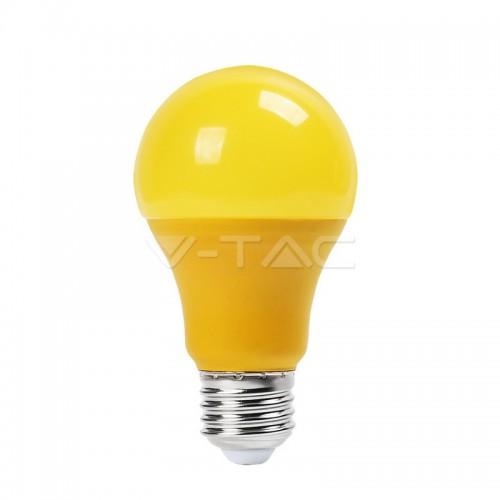 LED Bulb - 9W E27 Yellow Color Plastic