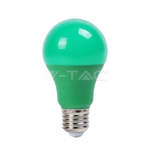 LED Bulb - 9W E27 Green Color Plastic
