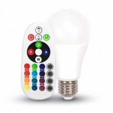 LED Bulb - 6W E27 A60 RGB With Remote Control 4000K
