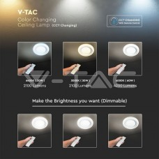 60W LED Designer Domelight With RF Control & Timer CCT Changing Starry Dimmable