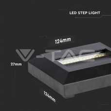 2W LED Step Light Black Body Square 4000K