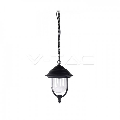 Garden Lamp With Clear PC Cover Black