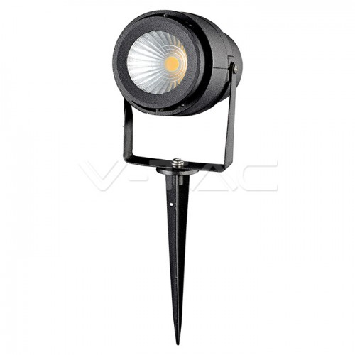 12W LED Garden Spike Lamp Black Body 4000K