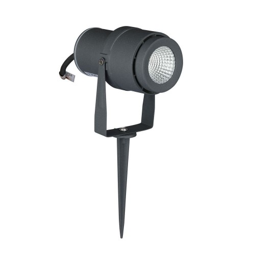 12W LED Garden Spike Lamp Grey Body Green