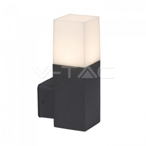 Garden Wall Lamp GU10 Aluminum Body Square Black 121x80x250mm IP54