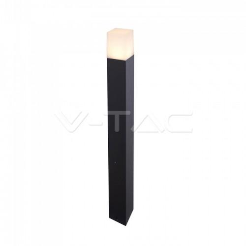 Garden Floor Lamp GU10 Aluminum Body Square Black 80x80x800mm IP54