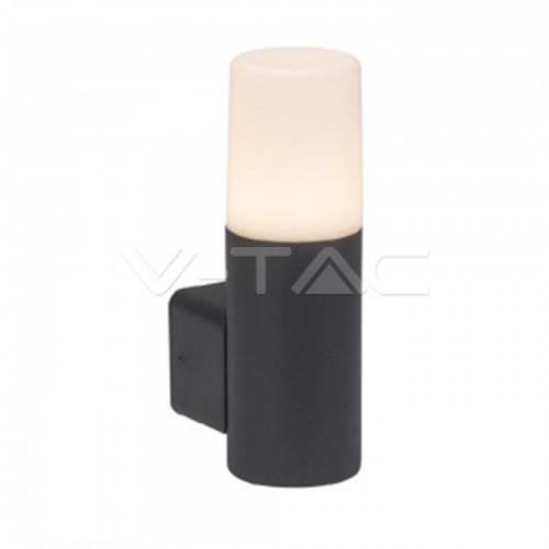 Garden Wall Lamp GU10 Aluminum Body Cylinder Black 121x80x250mm IP54