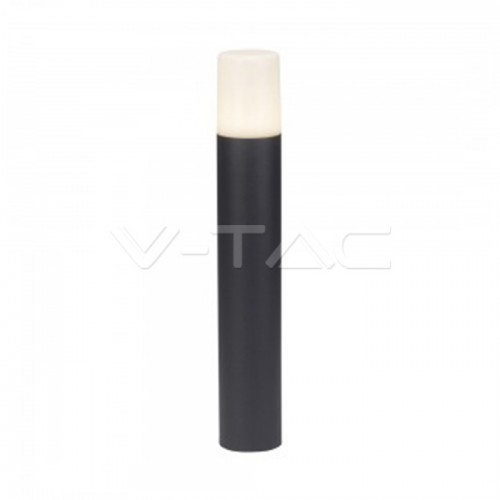 Garden Floor Lamp GU10 Aluminum Body Cylinder Black 80x80x500mm IP54