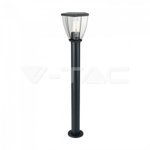 Bollard Lamp With Clear Cover Black