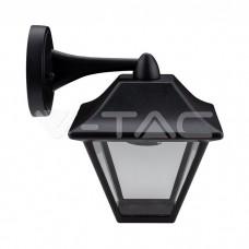Wall Lamp E27 Matt Balck Clear Glass