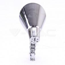 Designer Wall Lamp With Chrome Folder Bracket +Switch E27 Holder Chrome