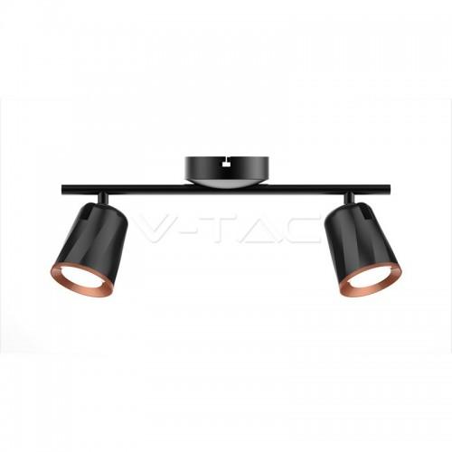 12W Led Wall Lamp Double Head 3000K Black