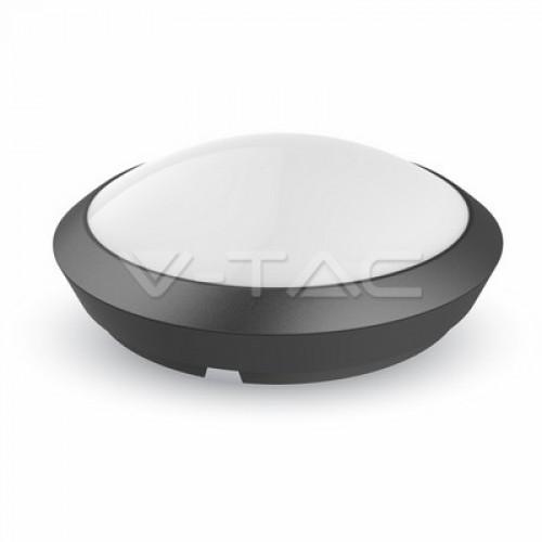 12W LED Full Round Ceiling Lamp Sensor Black Body Waterproof 6000K