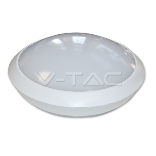 12W LED Full Round Ceiling Lamp With Sensor Microwave 6000K Body IP66 4500K