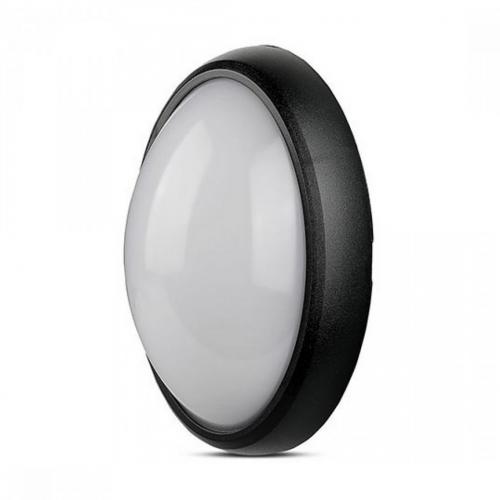 12W LED Full Oval Ceiling Lamp Black Body IP54 3000K