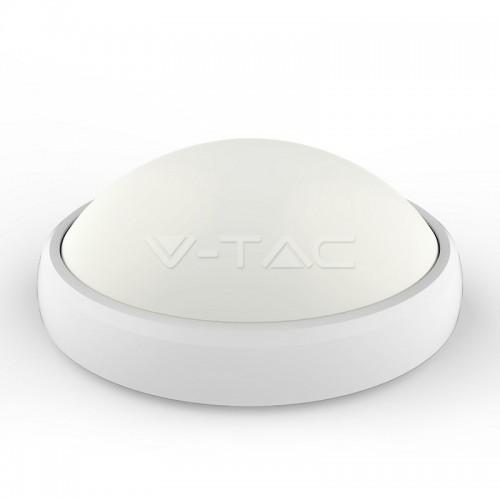 12W LED Full Oval Ceiling Lamp White Body IP54 3000K