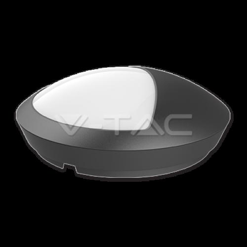 12W LED Half Round Ceiling Lamp Black Body Waterproof 4000K