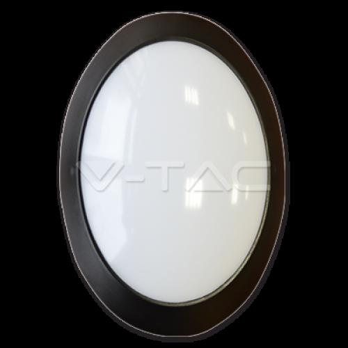 12W LED Full Oval Ceiling Lamp Black Body IP54 4000K