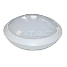 12W Dome Light Fitting White Body Round 6000K IP54