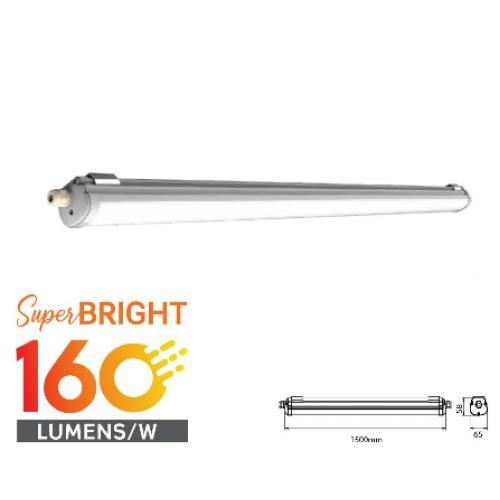 LED Waterproof Fitting X-SERIES 1500mm 32W 4000K 160LM/W