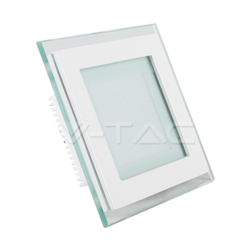 6W LED Panel Glass Square Warm White
