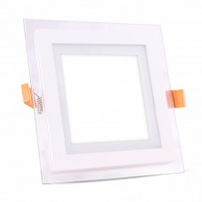 6W LED Panel Glass Square Natural White