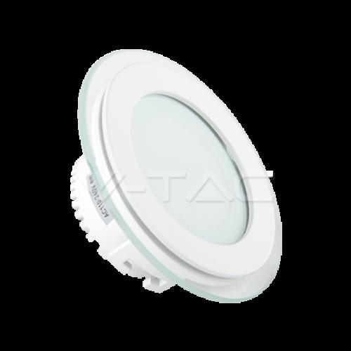 6W LED Panel Glass Round White