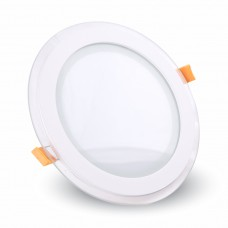 12W LED Panel Glass Round Natural White