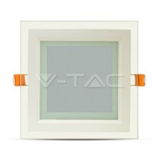 12W LED Panel Glass Square White