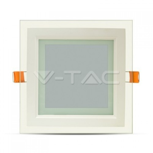 12W LED Panel Glass Square White
