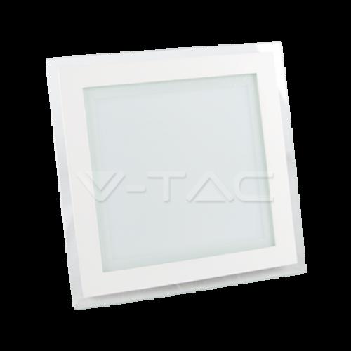 18W LED Panel Downlight Glass - Square 6400K