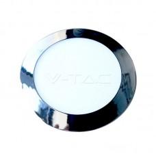 12W LED Panel Slim Chrome Round Natural White