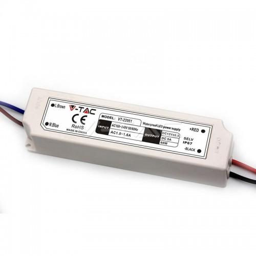 LED Plastic SLIM Power Supply - 60W 12V IP67