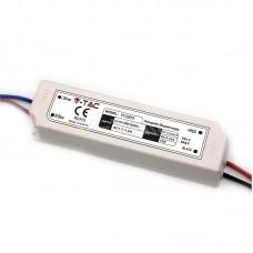 LED Plastic SLIM Power Supply - 75W 12V IP67