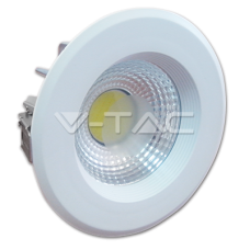 10W LED COB Downlight Reflector White Body - 6000K