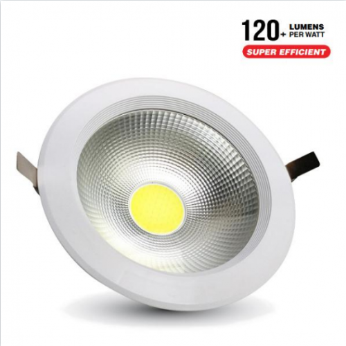 20W LED COB Downlight Round A++ 120Lm/W 6400K